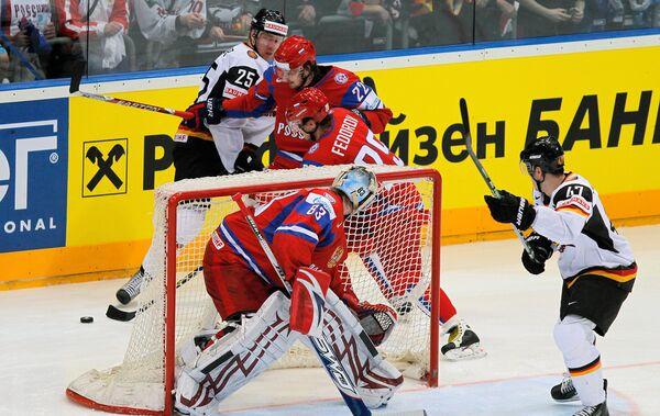 Best moments of World Ice Hockey Championship semifinals Russia vs. Germany - Sputnik International