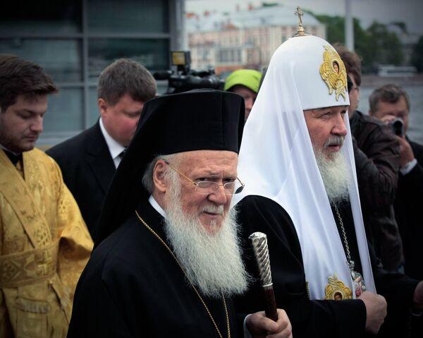 Russian, Constantinople patriarchs hail closer ties after visit - Sputnik International