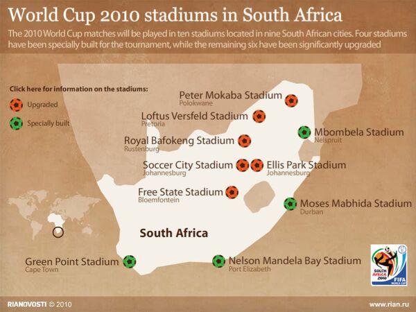 World Cup 2010 stadiums in South Africa - Sputnik International