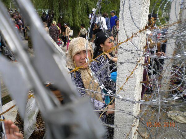 Refugees on Kyrgyz-Uzbek border  - Sputnik International