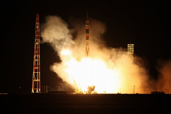 The spacecraft blasted off from the Baikonur Space Station in Kazakhstan for its half-year mission on the ISS at 01:35 a.m. Moscow time on Wednesday (21:35 GMT, Tuesday) - Sputnik International