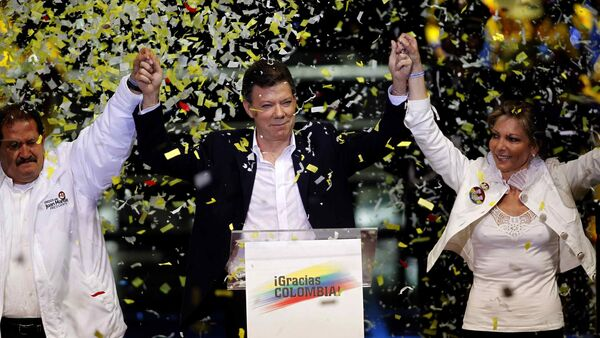Colombia's President Juan Manuel Santos has been reelected in 2014 on the promise to renew the stagnating peace process in the country. - Sputnik International