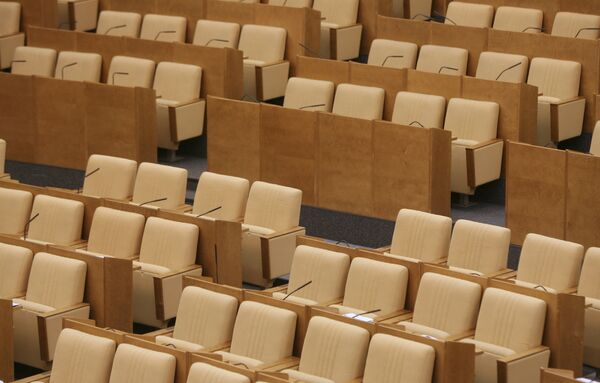 Empty seats in State Duma - Sputnik International