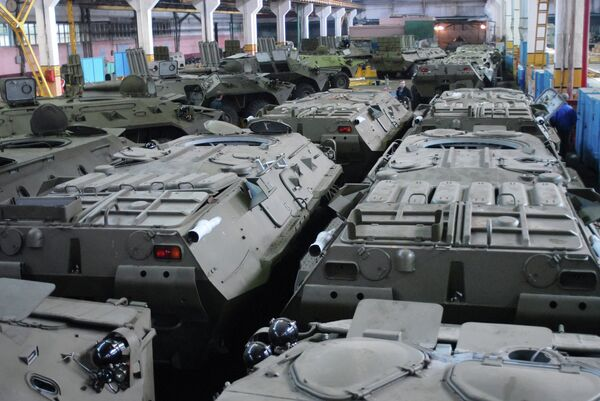 Armored vehicles assembly at the Arzamas Engineering Works JSC - Sputnik International