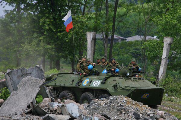 Russian troops in Abkhazia - Sputnik International