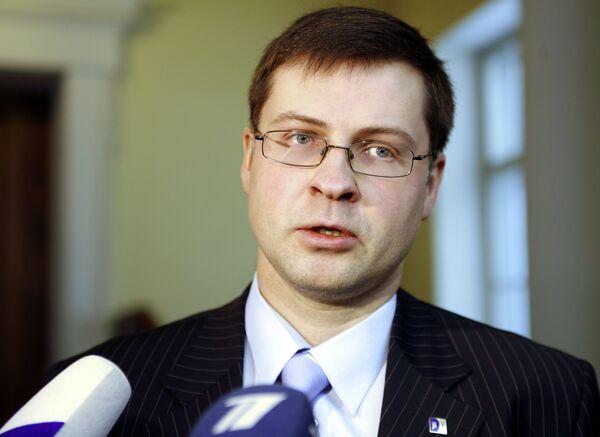 Latvian Prime Minister Valdis Dombrovskis - Sputnik International