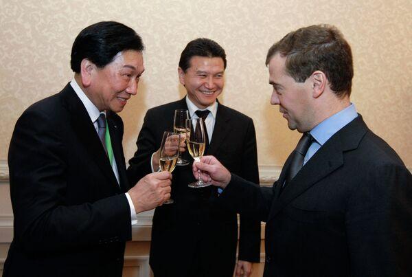 Russian President Dmitry Medvedev meets with leaders of international sports organizations - Sputnik International