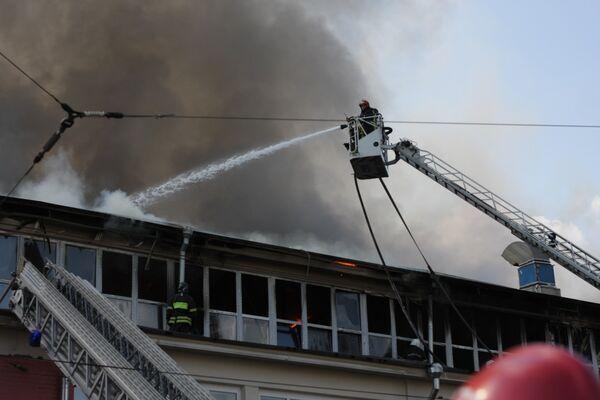 The fire at the Grabar All-Russian Art - Sputnik International