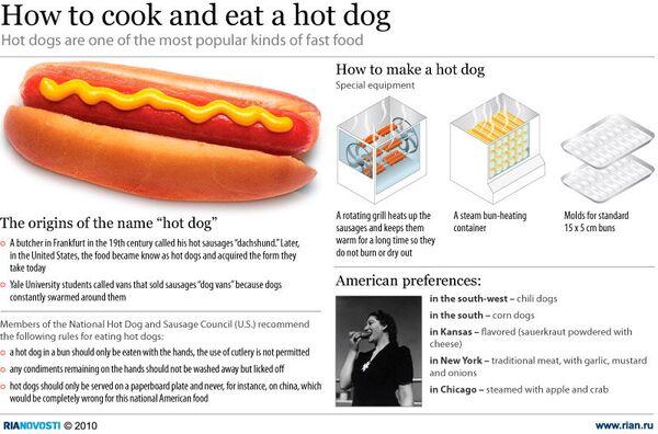 How to cook and eat a hot dog  - Sputnik International