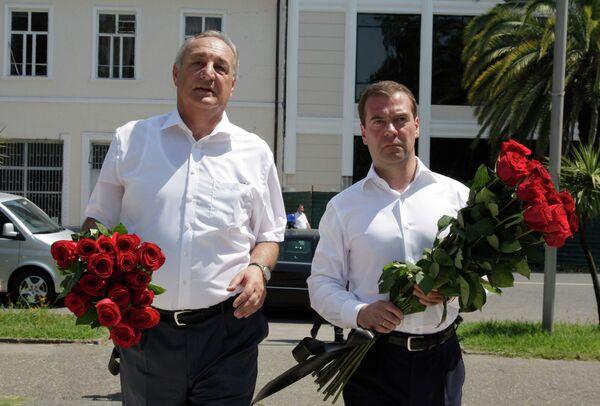 President Dmitry Medvedev visits Abkhazia - Sputnik International