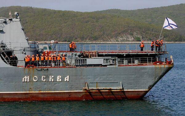 The RFS Moskva will stay at the port of Colombo until August 15. - Sputnik International