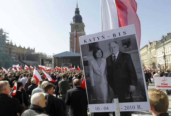 Polish President Lech Kaczynski, his wife, and a delegation of senior Polish officials died when their plane crashed in thick fog near the west Russian town of Smolensk on April 10. - Sputnik International