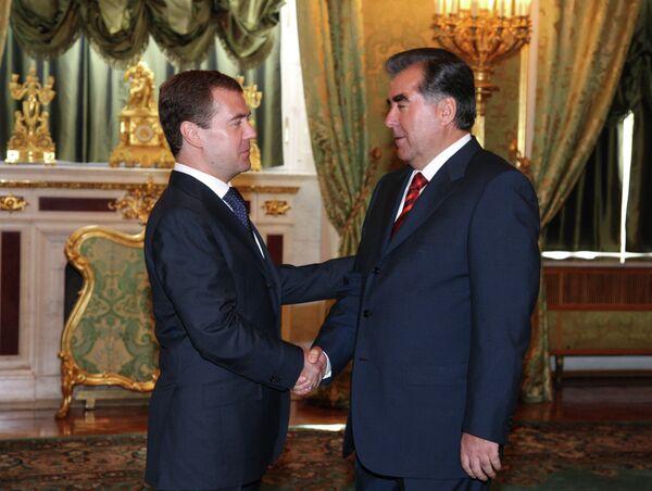 Russian President Dmitry Medvedev meeting with President of Tajikistan Emomali Rakhmon - Sputnik International
