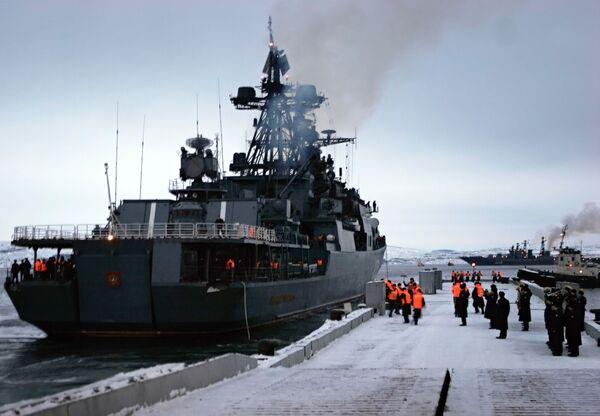 Russian destroyer RFS Admiral Levchenko  - Sputnik International