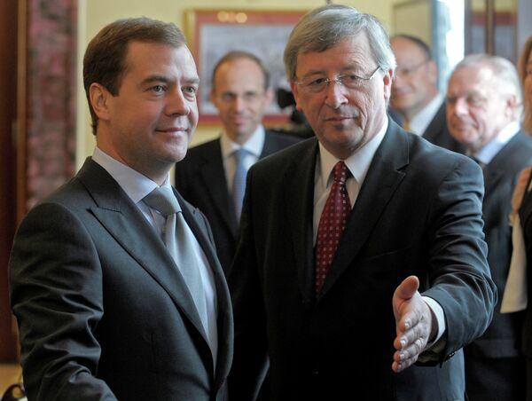 Dmitry Medvedev and Jean-Claude Juncker - Sputnik International