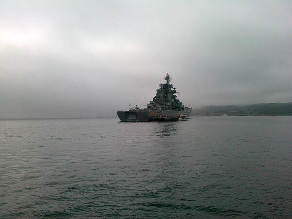 Pyotr Veliky nuclear-powered guided-missile cruiser  - Sputnik International