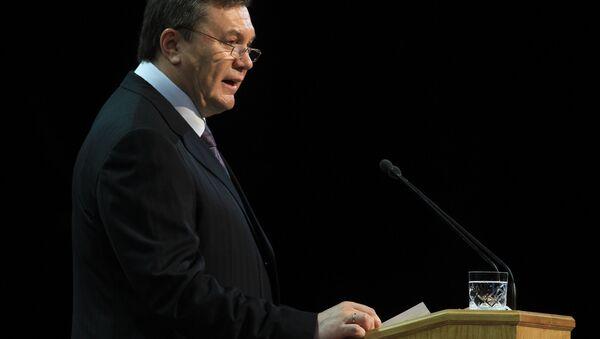 Ukrainian President Viktor Yanukovych  - Sputnik International