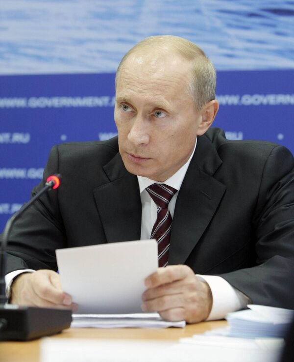 Russian Prime Minister Vladimir Putin in Norilsk - Sputnik International