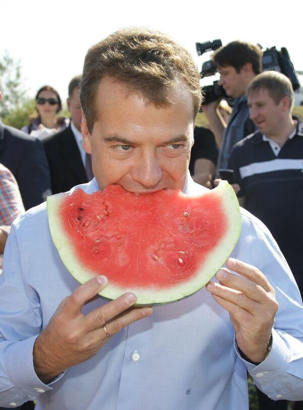 Dmitry Medvedev in stores and fields of Orenburg Region - Sputnik International