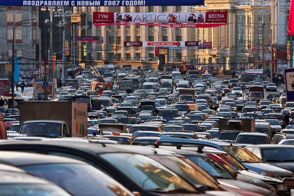 Moscow Named City With World's Worst Traffic - Sputnik International