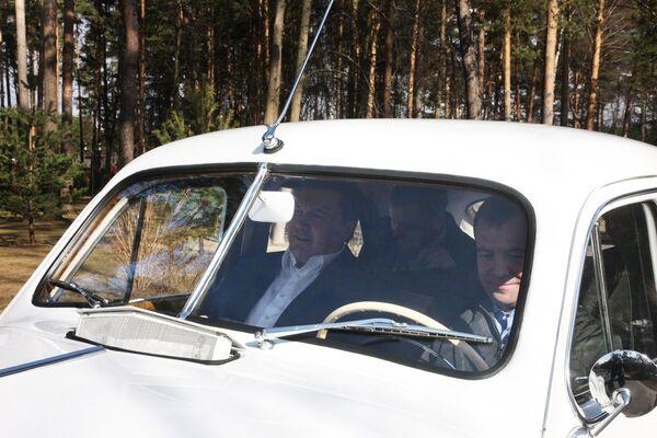 Dmitry Medvedev and Viktor Yanukovych. Archive - Sputnik International