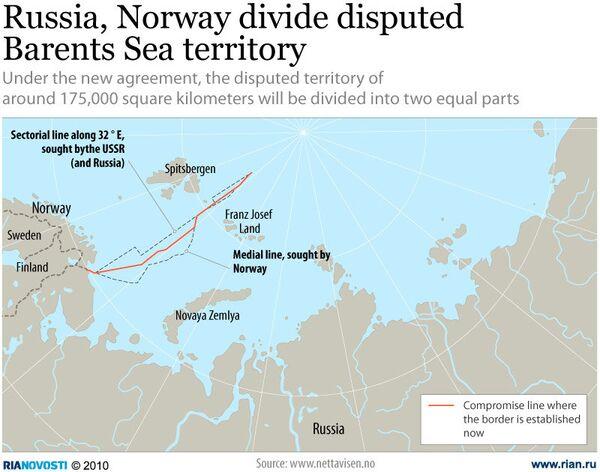 Russia, Norway divide disputed Barents Sea territory - Sputnik International