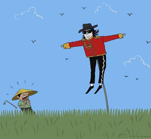 Michael Jackson against crows - Sputnik International
