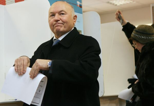 Luzhkov said he planned to return to Moscow next week and rejoin the political life in Russia after solving some personal and family issues. - Sputnik International