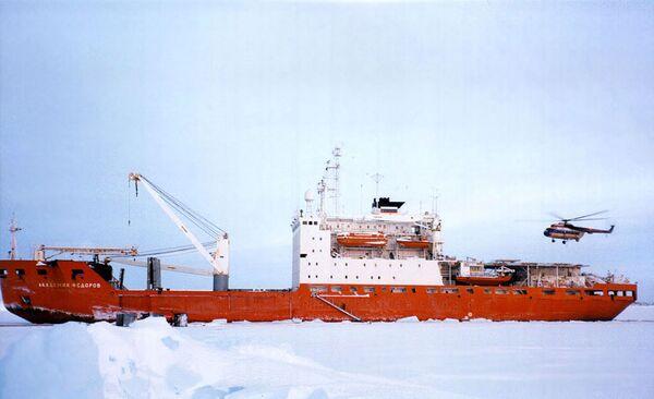 Russian research vessel Akademik Fedorov - Sputnik International