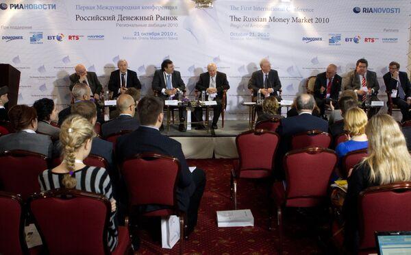 The Russian Money Market in 2010: Regional Ambitions International Conference - Sputnik International