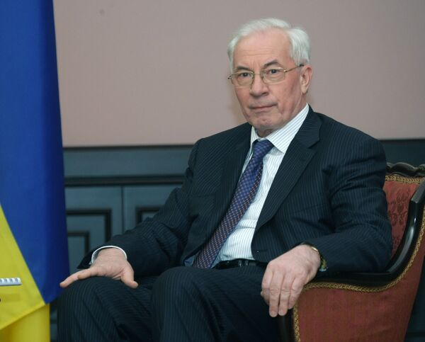 Ukraine's Prime Minister Mykola Azarov - Sputnik International
