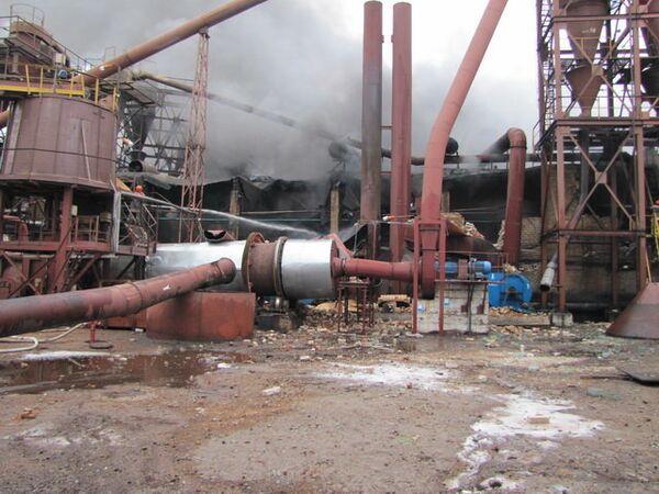 Plywood factory blast in Belarus  - Sputnik International