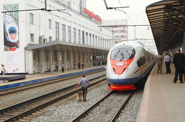 High-speed Sapsan train - Sputnik International
