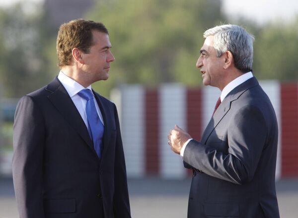 Dmitry Medvedev and Serzh Sargsyan. Archive - Sputnik International