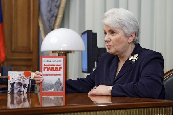 71-year-old Natalya Solzhenitsyna, the widow of Russian writer Alexander Solzhenitsyn - Sputnik International