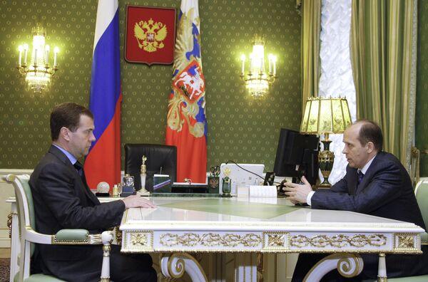 Dmitry Medvedev and Alexander Bortnikov  - Sputnik International