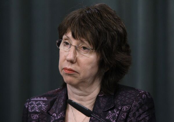 Catherine Ashton, EU High Representative for Foreign Affairs and Security Policy, said EU states allocated 500 million euros to combat the Ebola virus outbreak. - Sputnik International