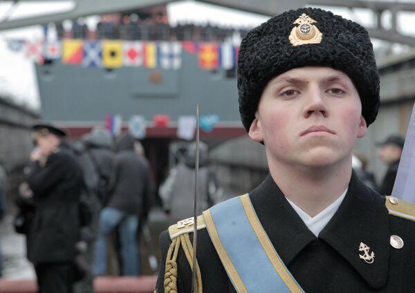 Russia floats out first of new class of frigate - Sputnik International