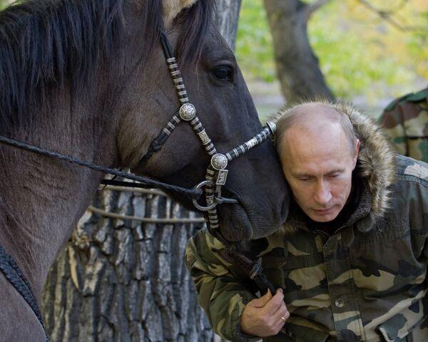 Vladimir Putin visits Ubsunur Hollow Biosphere Preserve - Sputnik International