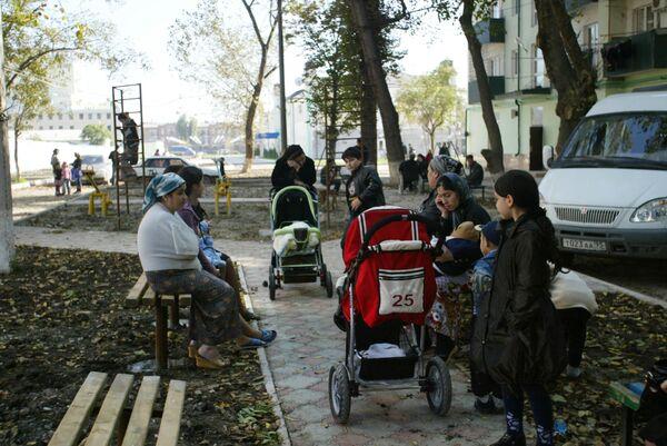 Chechen residents - Sputnik International