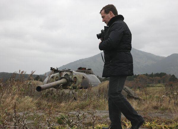 Dmitri Medvedev's visit to Kuril Islands - Sputnik International