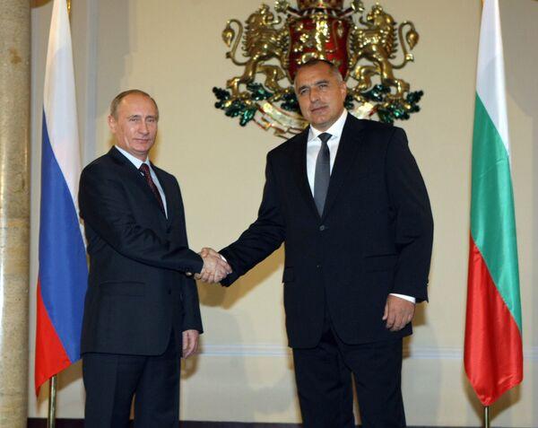 Russian Prime Minister Vladimir Putin and his Bulgarian counterpart Boiko Borisov - Sputnik International