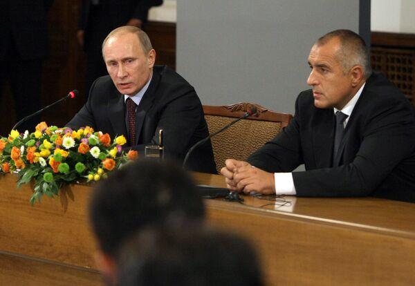 Putin at the talks with his Bulgarian counterpart Boiko Borisov in Sofia on Saturday. - Sputnik International