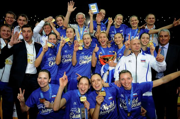Russian team wins FIVB Women's World Volleyball Championship  - Sputnik International