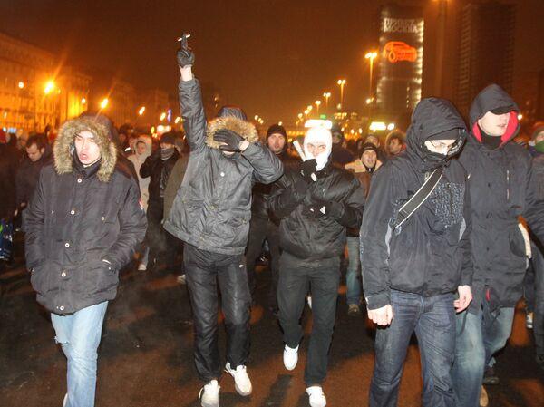 The unsanctioned march is in memory of Spartak fan Yegor Sviridov - Sputnik International