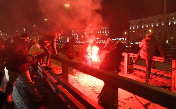 Spartak fan's rally in memory of Yegor Sviridov  in Moscow. Archive. - Sputnik International