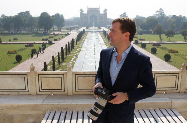 Dmitry Medvedev at Taj Mahal and Bollywood  - Sputnik International