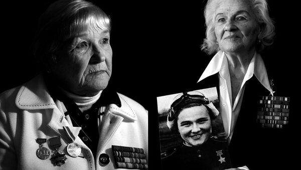 Galina Brok-Beltsova, left, and Nadezhda Popova, right, were part of the Soviet Union's all-female air regiments. The Soviet Union was the first nation to allow women to fly combat missions. - Sputnik International