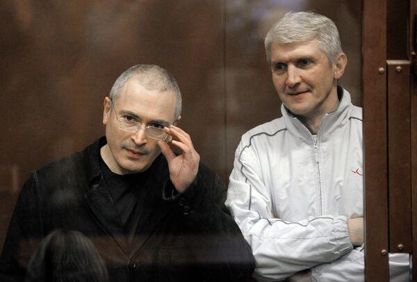 Mikhail Khodorkovsky and his business partner Platon Lebedev - Sputnik International