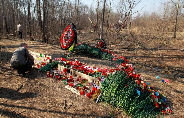 The site of Lech Kaczynski's plane crash - Sputnik International